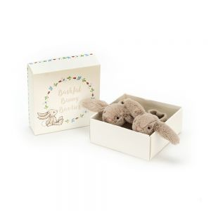 Jellycat Bashful Beige Bunny Booties in a Gift Box