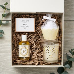 Luxury Baby Shower Mummy & Baby Natural Gift Box Set