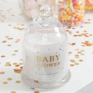 Luxury Baby Shower Candle in Glass Cloche Gift Box
