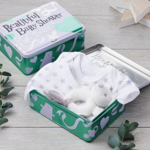 Brightside Beautiful Baby Shower 3 Piece Gift Set Tin