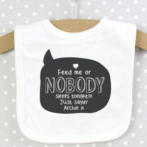 Personalised Speech Bubble Baby Bib - Add your own wording