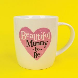 Brightside Mummy-to-Be Bone China Mug in a gift box
