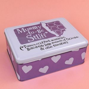 Mummy-to-be Stuff storage tin from The Bright Side