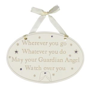 Bambino Guardian Angel Nursery Plaque