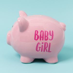 Pennies & Dreams' Funky Ceramic Pig Money Bank - Baby Girl