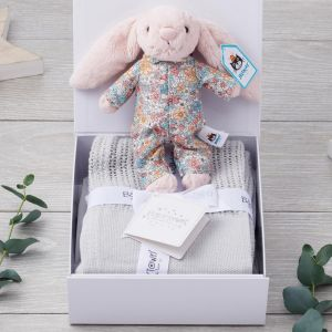 Luxury Bedtime Bunny and Luxury Blanket Gift Box
