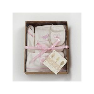 Naturest Purest Organic Natural Cotton Newborn Baby Girl 5 piece Gift Box