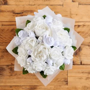 Medium Baby Clothes Bouquet in Classic White