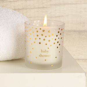 Baby Shower Luxury Gold Star Scented Candle Gift Box