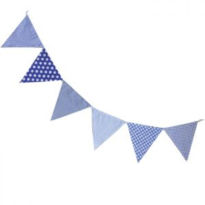 Blue Double Sided Bunting (3 metres)