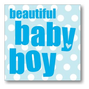 Beautiful Baby Boy Greeting Card