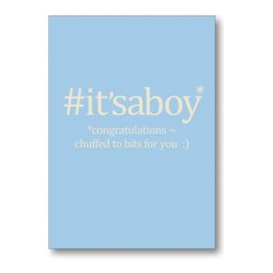 Hashtag It's a Boy Greeting Card