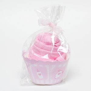Single Cupcake Girls Pink Babygro Baby Shower Gift