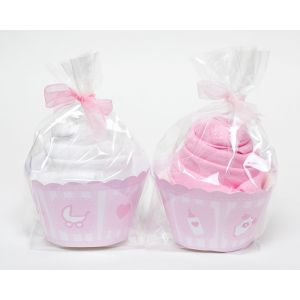 Baby Girl 2 Piece Cupcake Babygro Baby Shower Gift Set