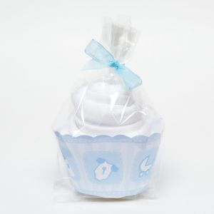 Single Cupcake Boys White Babygro Baby Shower Gift