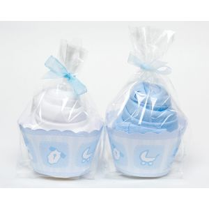 Baby Boy 2 Piece Cupcake Babygro Baby Shower Gift Set