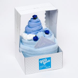 Luxury Celebration Cake 7 Piece New Baby Boy Gift Set