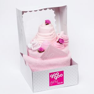 Luxury Celebration Cake 7 Piece New Baby Girl Gift Set