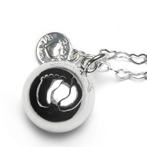 Baby Bell Silver-Plated Heart Chain Maternity Gift By Proud Mama
