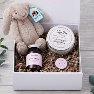 Mum and Baby Luxury Natural Pamper Hamper with Jellycat Bunny