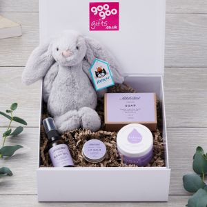 Mum and Baby Natural Luxury Gift Hamper with Jellycat Bunny