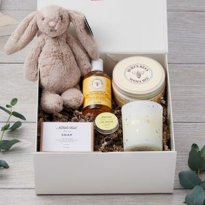 Ulimate Mum-to-Be and Baby Luxury Care Gift Box Set and Jellycat Bunny