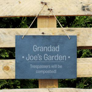 Personalised Large Hanging Slate Sign