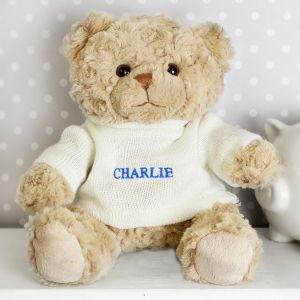 Personalised Super Cute Teddy Bear - Blue
