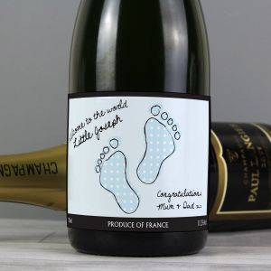 Time to Celebrate! Personalised Baby Footprint High Quality Champagne