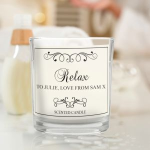 Personalised Scented Candle with Any Message