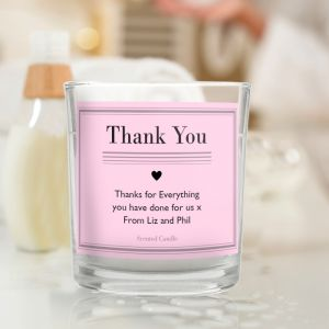 Personalised Classic Pink Scented Candle with Any Message
