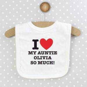 Personalised I Heart Baby Bib