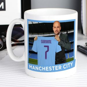 Manchester City FC Manager Mug with Your Name and Number