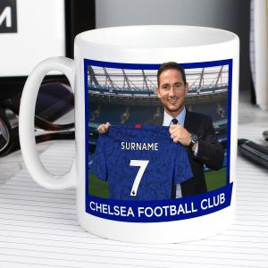 Chelsea FC Manager Mug with Your Name and Number