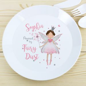Personalised Fairy Princess Plastic Plate