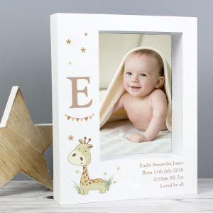 Personalised Cute Giraffe Photo Frame