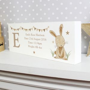 Personalised Bunny Wooden Block Sign