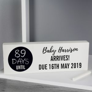 Personalised Due Date Countdown Sign