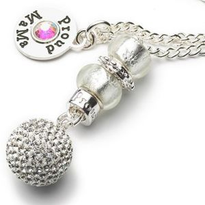 Baby Bell Ultimate Bling Deluxe Crystal Silver Plated Maternity Gift