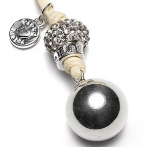 Babybell Maternity Jewellery Gift from Proud Mama - Silver Bling Cream Cord