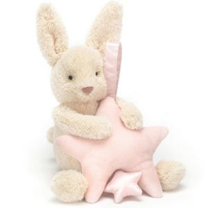 Jellycat Star Bunny Pink Musical Pull 28cm
