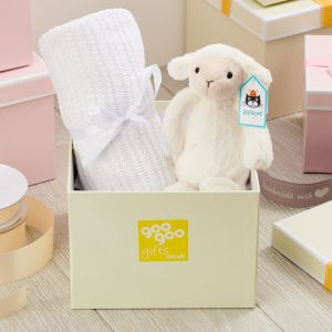 Welcome Baby Luxury Little Lamb and Blanket Gift Box