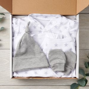 Silver Star 5 Piece Designer Baby Clothes Set New Arrival Package