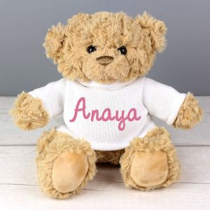 Personalised Super Cute Teddy Bear - Pink