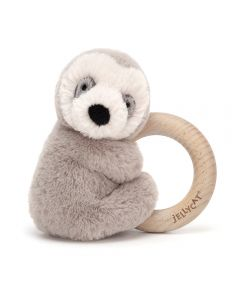 Jellycat Sloth Wooden Toy Teether Ring